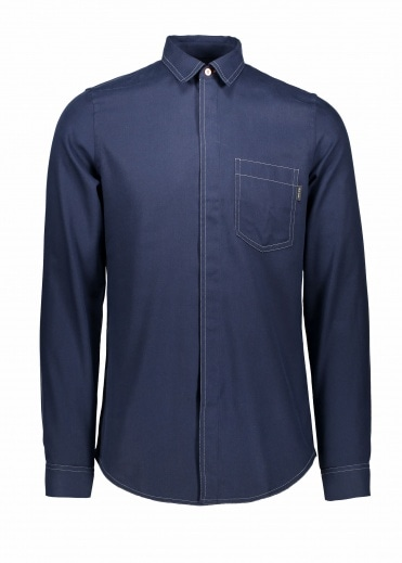 Paul Smith Slim LS Shirt - Navy