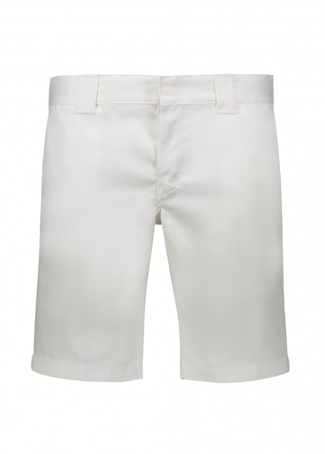 Slim Work Short - White