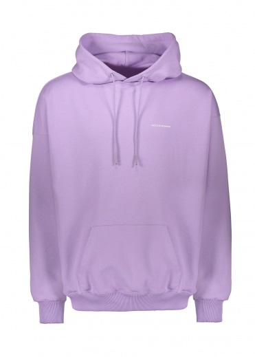 Drôle de Monsieur Slogan Embroidered Hoodie - Purple