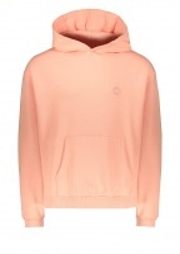 Drôle de Monsieur Slogan Pocket Hoodie - Pink