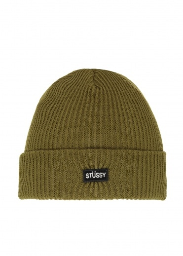 Stussy Small Patch Watchcap Beanie - Green