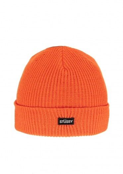 Stussy Small Patch Watchcap Beanie - Orange