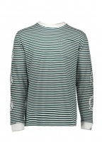 Billionaire Boys Club Small Stripe LS Tee - Green / White