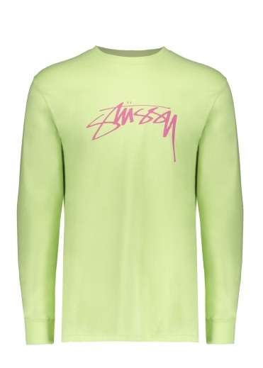 Stussy Smooth Stock LS Tee - Pale Green