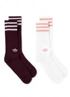 adidas Originals Apparel Solid Crew Two Pack Socks - Maroon