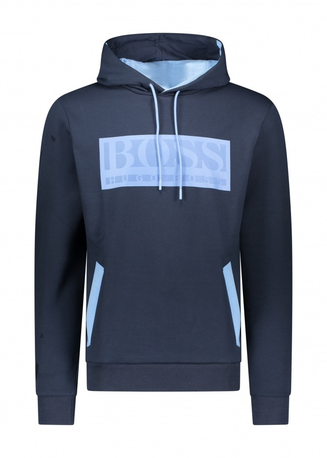 Soody Batch Hooded Track Top - Navy