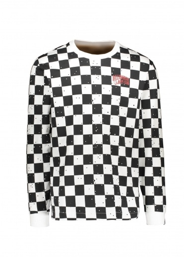 Billionaire Boys Club Space Check LS Tee - White