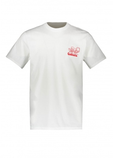 Carhartt SS Bene T-Shirt - White / Red
