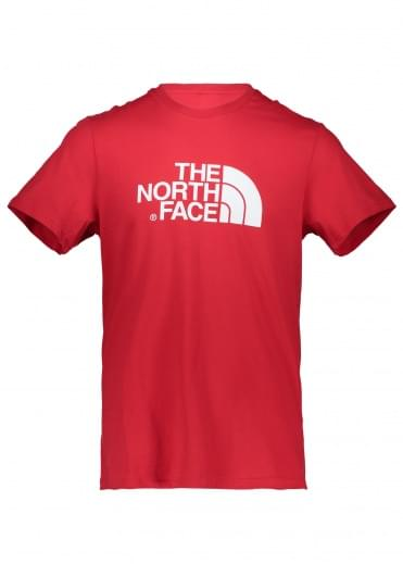 North Face SS Easy Tee - Red / White