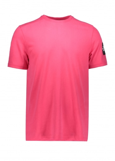 North Face SS Fine 2 Tee - Raspberry Red