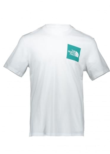 North Face SS Fine Tee - White / Porcelain Green