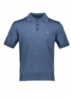 SS Knit Polo 494M - Blue