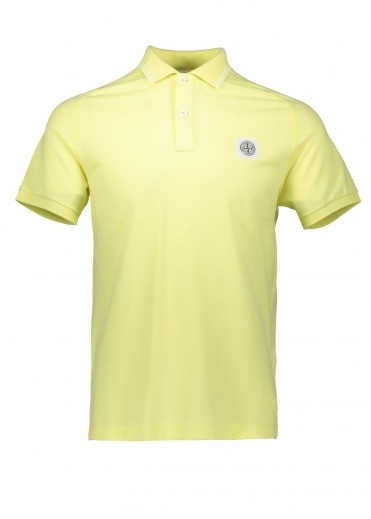 Stone Island SS Patch Logo Polo - Lemon
