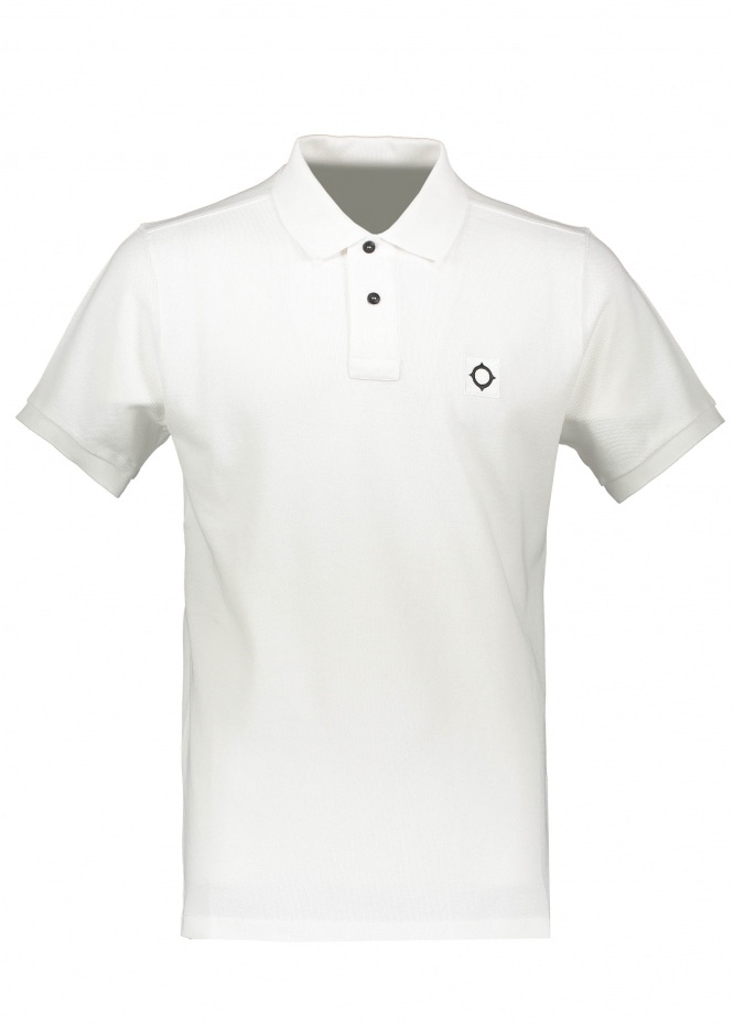 MA.STRUM SS Pique Polo - Optic White