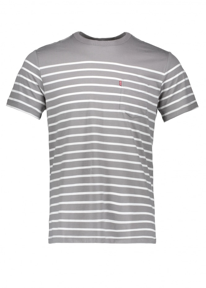 SS Sunset Anchor Stripe - Grey / Marshmallow