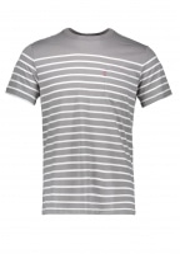 SS Sunset Anchor Stripe - Grey / Marshmallow