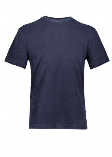 Sunspel SS Terry Tee - Navy