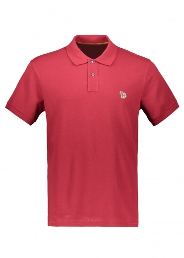 Paul Smith SS Zebra Logo Polo 29 - Bordeaux
