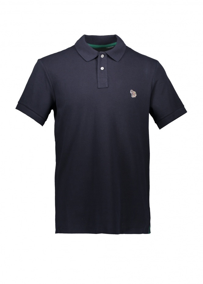 Paul Smith SS Zebra Logo Polo - Dark Navy