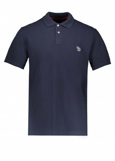 Paul Smith SS Zebra Polo Shirt - Dark Navy