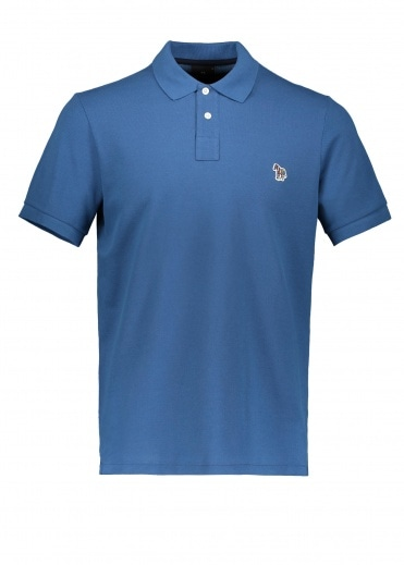 Paul Smith SS Zebra Polo Shirt - Petrol Blue