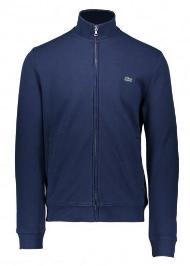 Lacoste Stand Up Collar Zip - Navy Blue