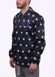 77d19275 Champion Star Print Coach Jacket - Navy Blue