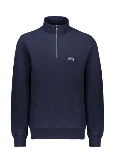 Stussy Stock Fleece Mock Neck - Navy