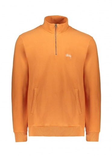 Stussy Stock Fleece Mock Neck - Orange