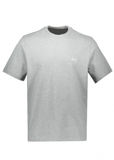 Stussy Stock Logo S/SL Crew - Grey Heather