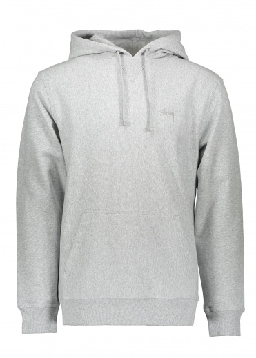 Stussy Stock Terry Hoodie - Grey Heather