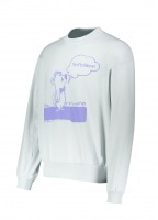 Aries Stoner Bear Sweatshirt - Pale Blue