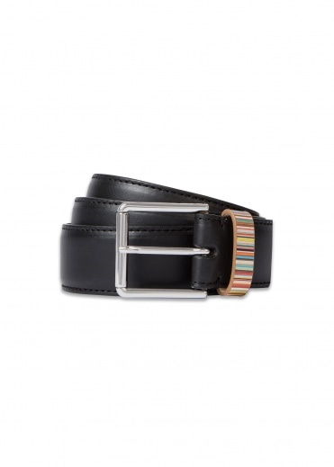 Paul Smith Stripe Keeper Belt - Black