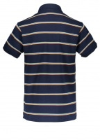 Stripe Polo - Navy Blue