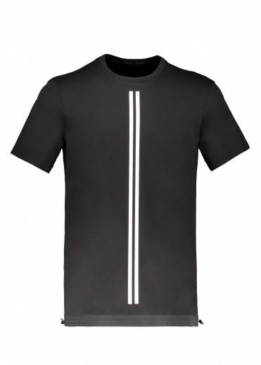 BLACKBARRETT by Neil Barrett Stripe Tee - Black / White