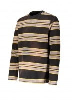 Bleach Stripe LS Crew - Black