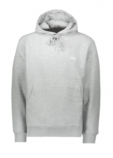 Stussy Logo Hood Grey Heather
