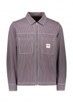 Overdyed Hickory LS Zip Shirt - Purple