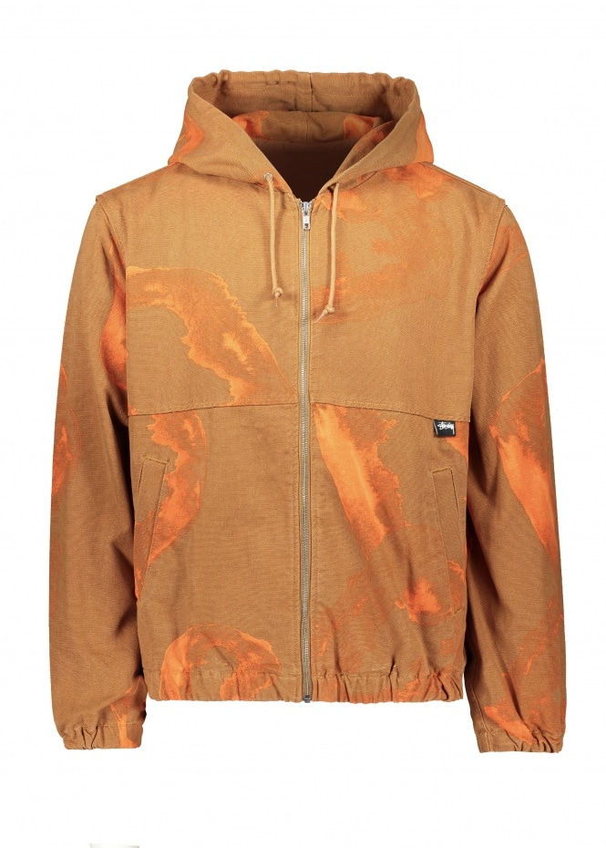 Printed Canvas Work Jacket - Clay