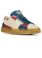 Suede Crepe Patch Trainers - Peyote