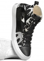 McQ by Alexander McQueen Swallow Hi Cut Up - Black / White
