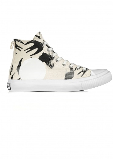 McQ by Alexander McQueen Swallow Hi Cut Up - Oyster / Black