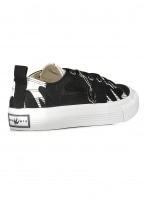 McQ by Alexander McQueen Swallow Lo Cut Up - Black / White