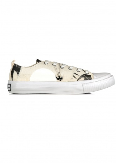 McQ by Alexander McQueen Swallow Lo Cut Up - Oyster / Black