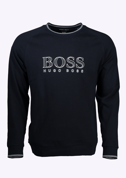 hugo boss sweatshirt dark blue hugo boss from triads uk. Black Bedroom Furniture Sets. Home Design Ideas