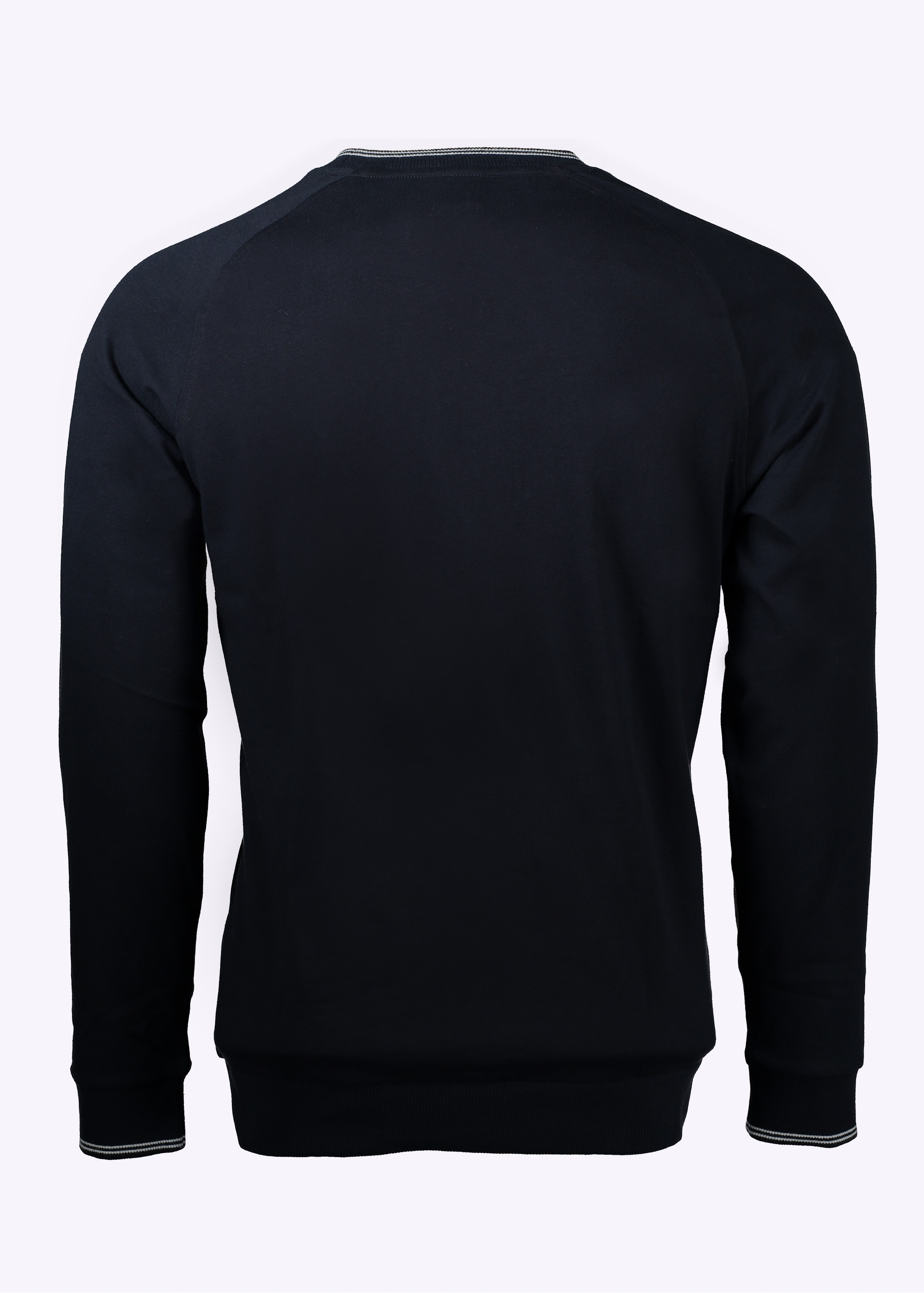 Made from waffle-textured jersey, this sweatshirt has a contrast woven panel at the hemline and cuffed sleeves with neat plackets. A straight fit, it is completed with a round neckline and ¾ sleeves. Model is cm tall and wearing a size Small.