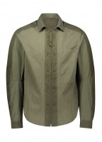 Tailored Fit Zip Shirt - Military Green