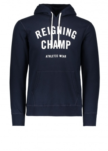 Reigning Champ Terry Gym Logo Hoodie - Navy / White