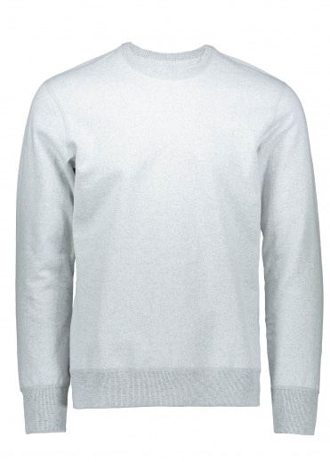 Reigning Champ Terry Long Sleeve Crew - Chalk