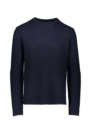 Folk Textured Crew - Navy